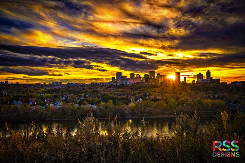 Edmonton at Sunset