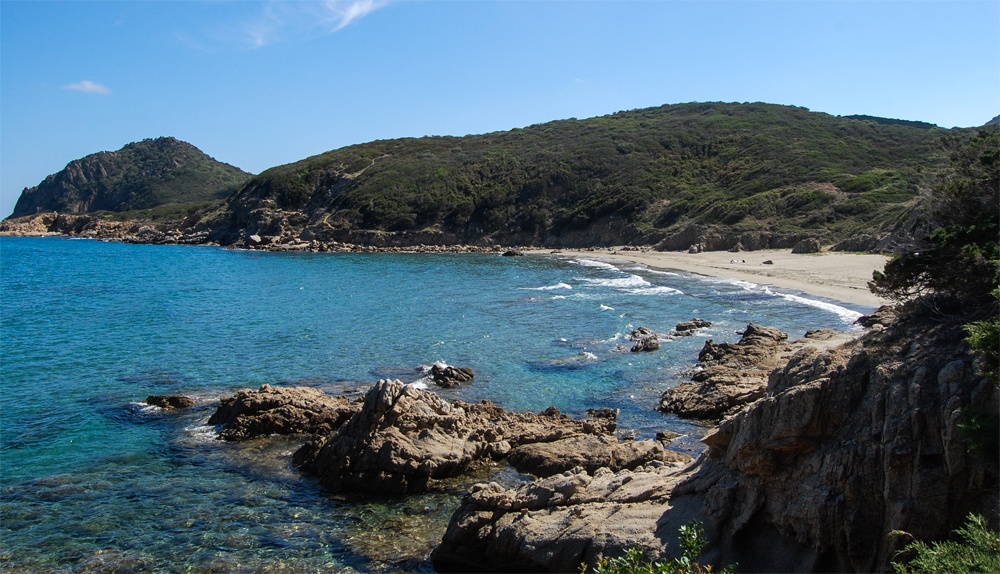 A beautiful beach on the coast of Sardina in the Mediterranean, motivation to save up for a trip.
