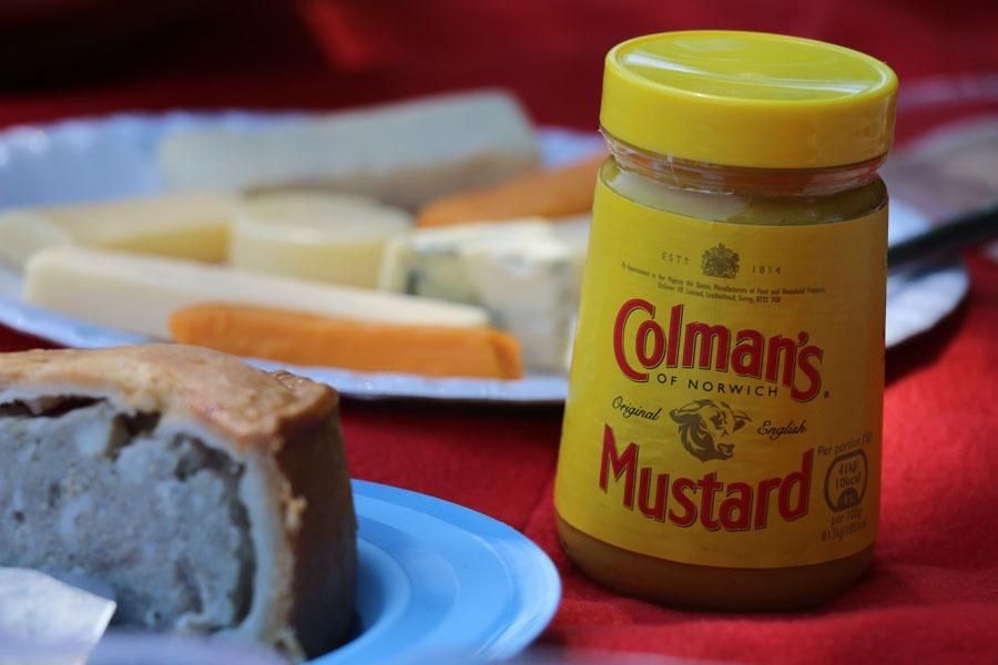 A jar of colmans mustard