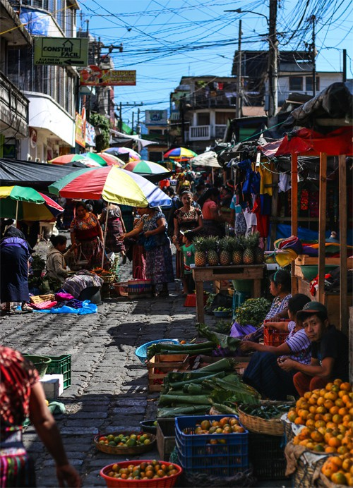 The busy market in San Pedro la Laguna is a must do activity