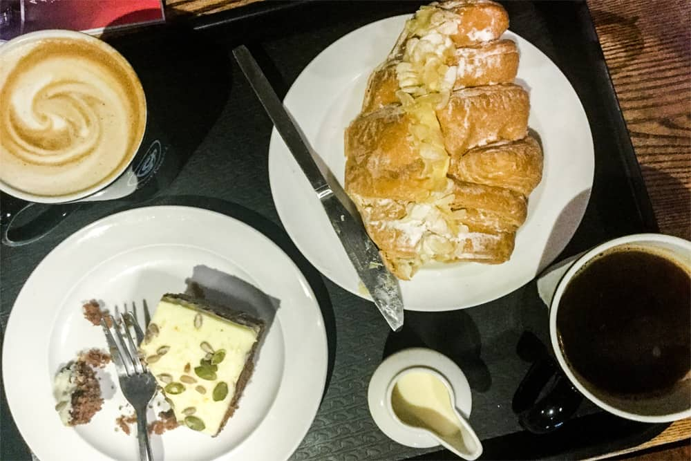 Coffee and pastries from Coffee #1 in Bristol