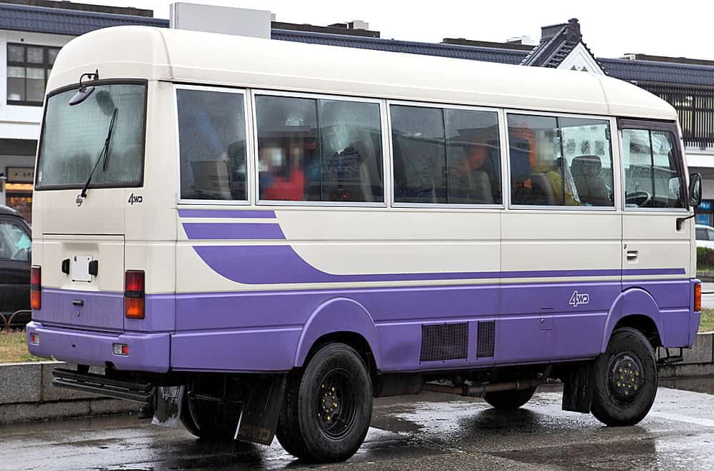 Small microbus to get around Romania