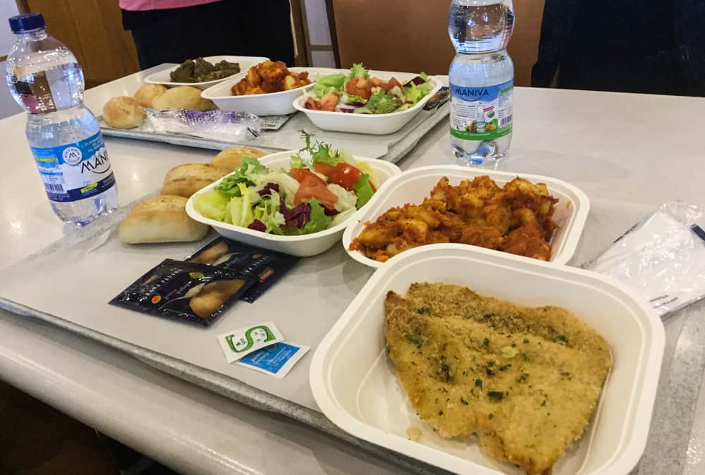 The food on the ferry from Barcelona to Tangier