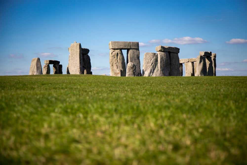 Famous rock formation of Stonehenge in England