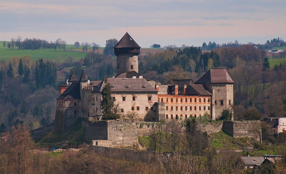 An old castle in the Silesian region of the Czech Republic