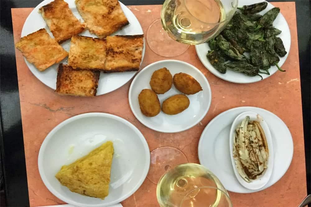 Barcelona Food Guide Tapas selection.