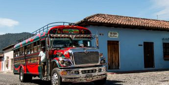 The Famous Central American Chicken Bus