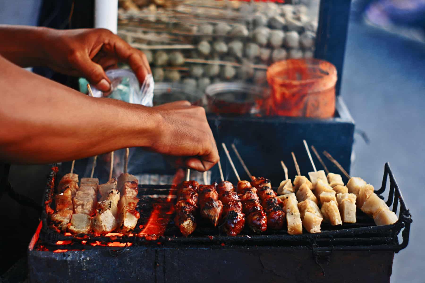 Street Food Grilling