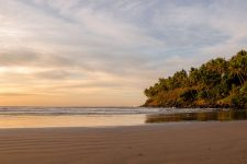 Sunset over a beach. One of the best beaches in El Salvador