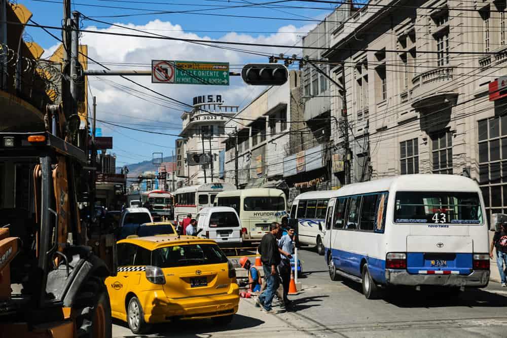 Right Bus, Wrong Way in San Salvador