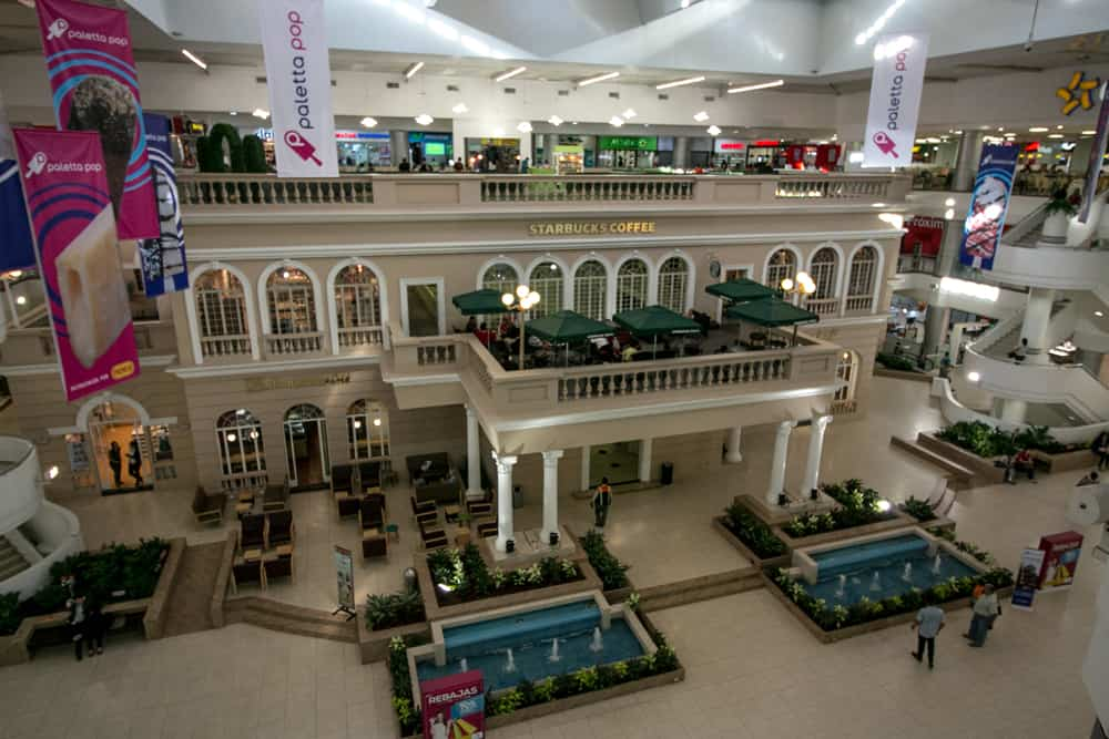 Colonial mansion inside a mall