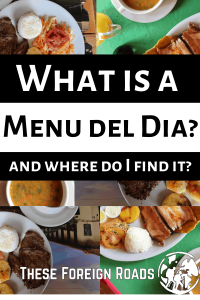 Pinterest pin for Menu Del Dia in Colombia