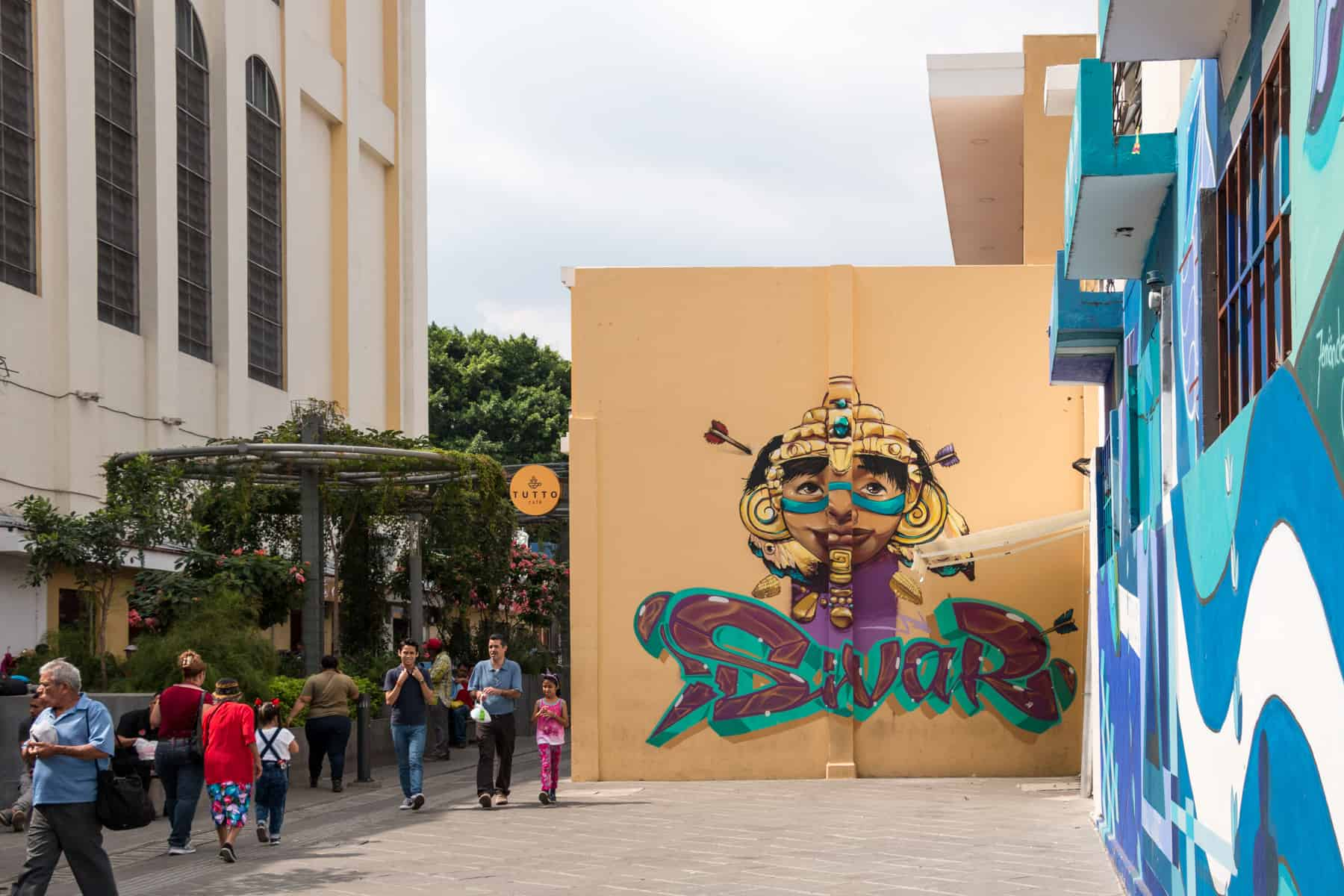 "Colourful graffiti with the word ""sivar"" in San Salvador. City centre is one of the best thing to do in San Salvador"