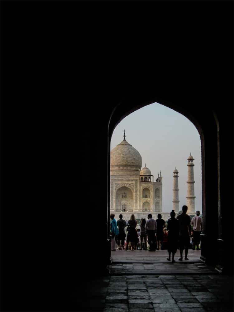 Taj Mahal through a tunnel