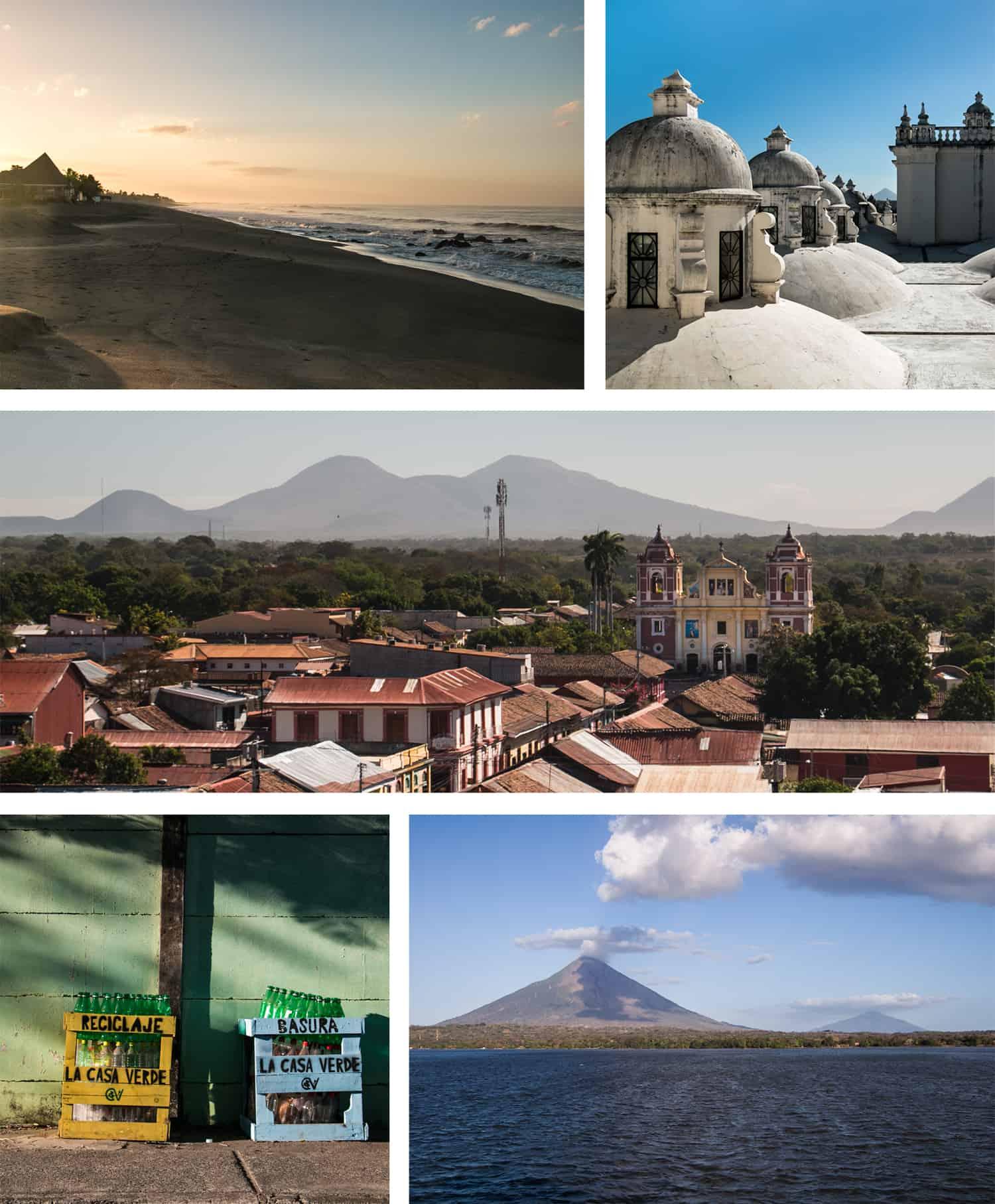 Random Photo Grid of Nicaragua