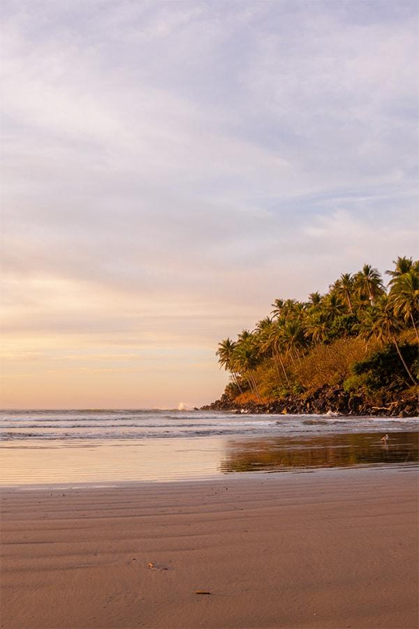 Beach at sunrise.